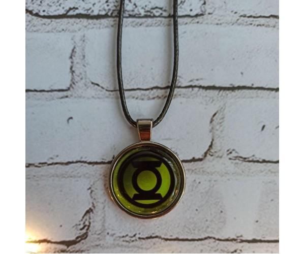 Кулон Зелений Ліхтар Green Lantern D25