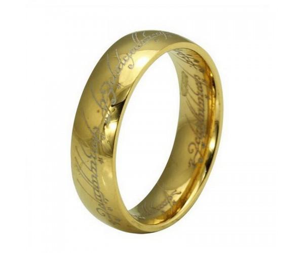 """Перстень всевладдя зі стрічки """"Володар перснів"""" золотий"""