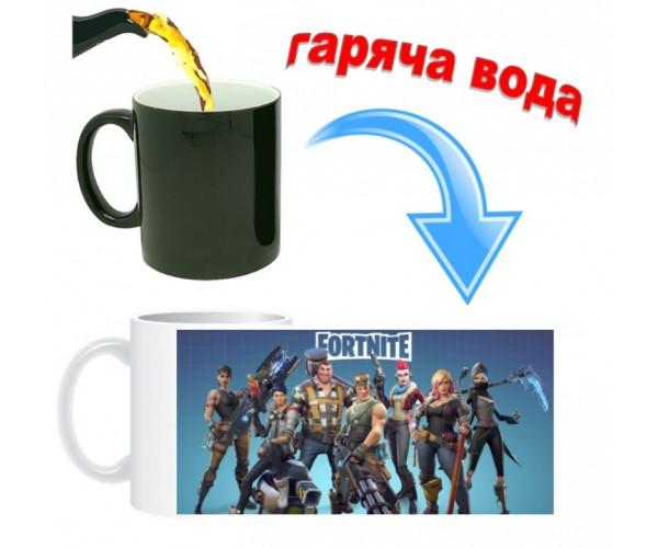 Чашка хамелеон Fortnite 03