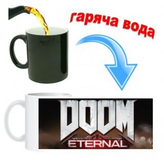 Чашка хамелеон Doom Eternal