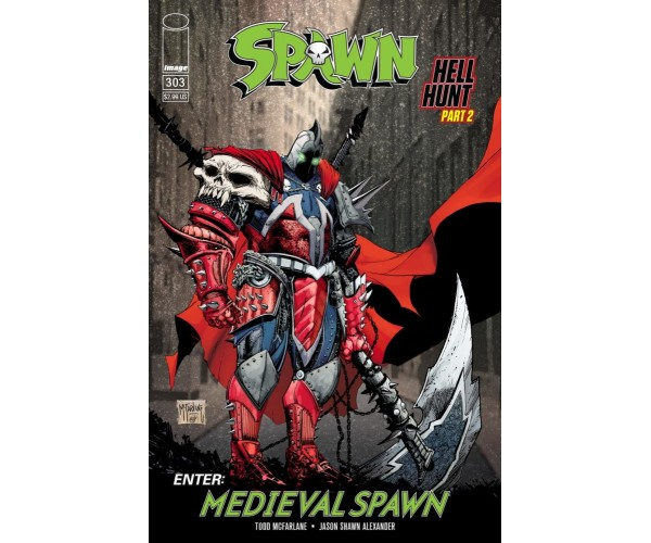 Spawn #303 Cover B Variant Todd McFarlane Color Cover