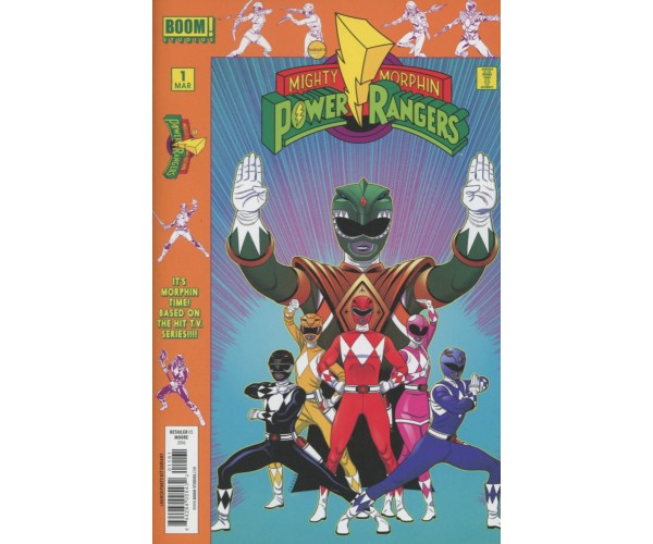 Mighty Morphin Power Rangers (BOOM Studios) #1 Cover E Variant Launch Party Cover