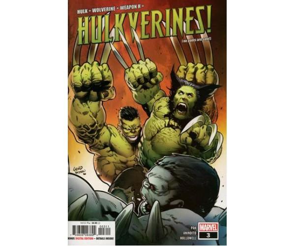 Hulkverines #3 Cover A Regular Greg Land Jay Leisten & Frank DArmata Cover