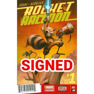 Rocket Raccoon Vol 2 #1 Cover J DF Signed By Skottie Young