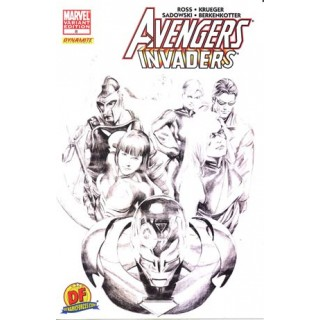 Avengers Invaders #8 DF Exclusive Alex Ross Sketch Variant Cover