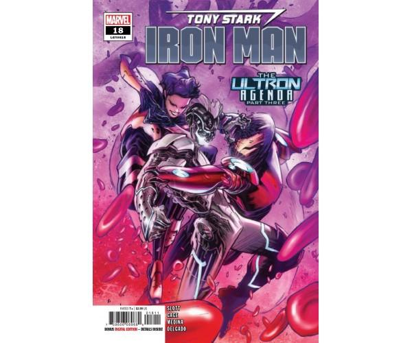 Tony Stark Iron Man #18 Cover A Regular Alexander Lozano Cover