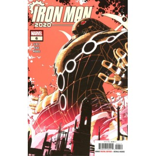 Iron Man 2020 #6 Cover A Regular Pete Woods 5th Color Fluorescent Ink Cover