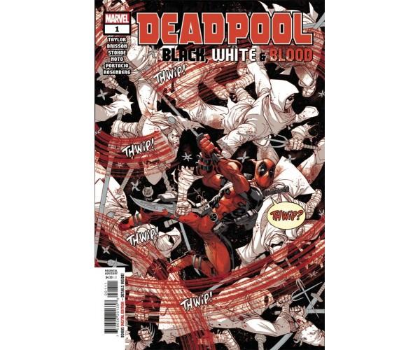 Deadpool Black White & Blood #1 Cover A Regular Adam Kubert Cover