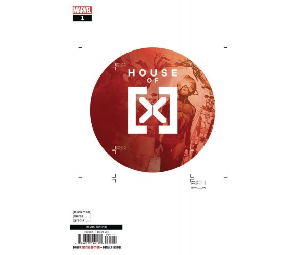 House Of X #1 Cover T 4th Ptg Variant Pepe Larraz Cover