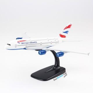 Модель пасажирський літак Airbus A380 British Airways 20см