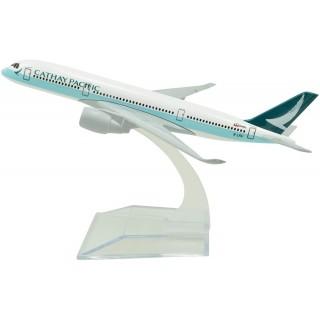 Модель пасажирський літак Airbus A350 Cathay 20см