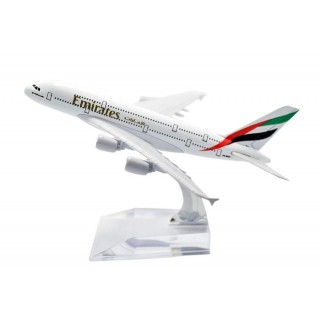 Модель пасажирський літак Airbus A380 Emirates 20см