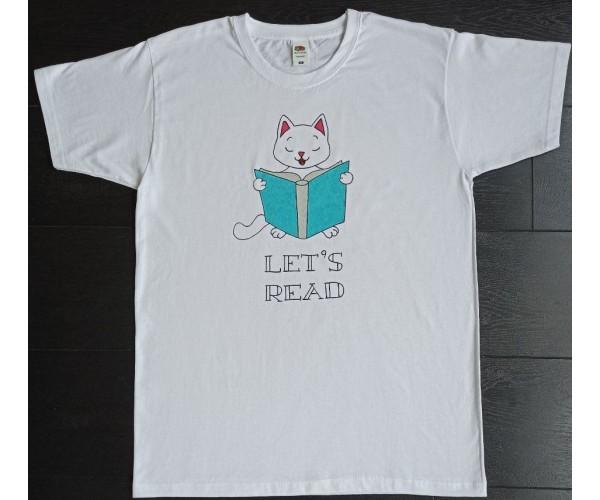 Футболка Кіт читає книгу