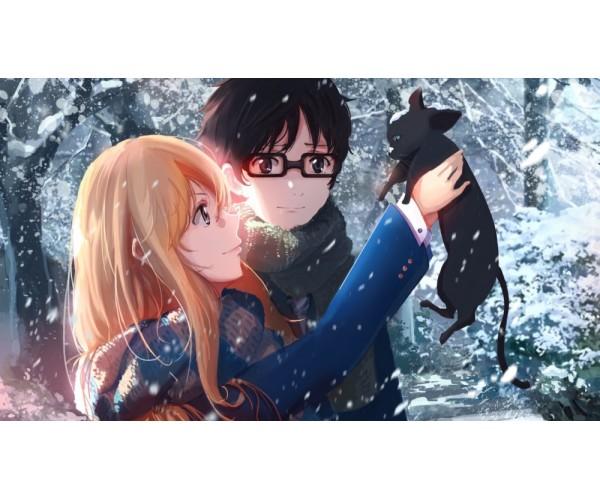 Постер Kaori Miyazono Kousei Arima Shigatsu