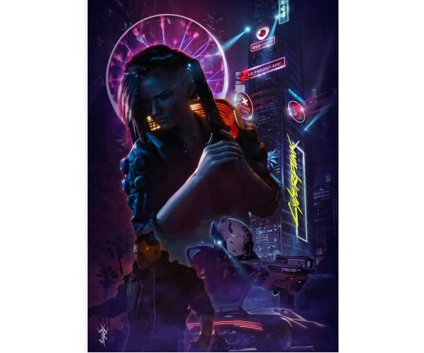 Постер Cyberpunk 2077 012