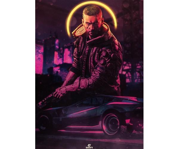 Постер Cyberpunk 2077 01