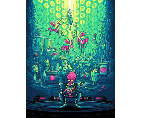 Постер Рік і Морті Rick and Morty A3 04