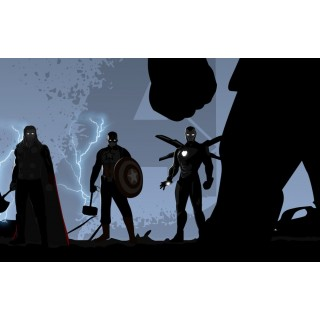 Постер Месники Avengers Тор Капітан Америка Залізна Людина A3