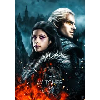 Постер Відьмак The Witcher A3 10