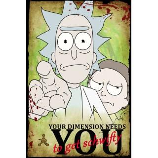 Постер Рік і Морті Rick and Morty A3 23