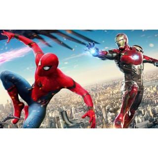 Постер Залізна людина Людина павук A3