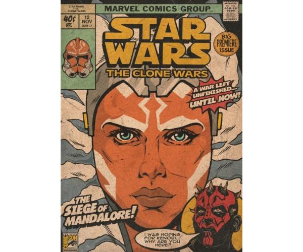 Постер Зоряні Війни Star Wars Асока Тано Ahsoka Tano А3