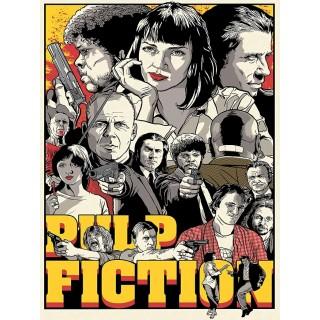 Постер Pulp Fiction Кримінальне чтиво Quentin Tarantino Movies A3