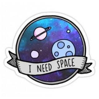 Стікер I need space