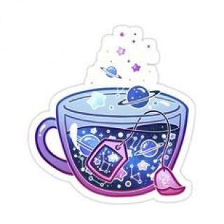 Стікер Космічний чай