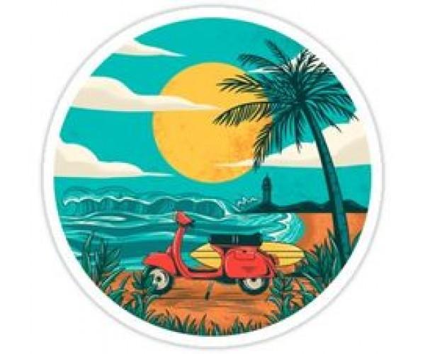 Стікер Пляж
