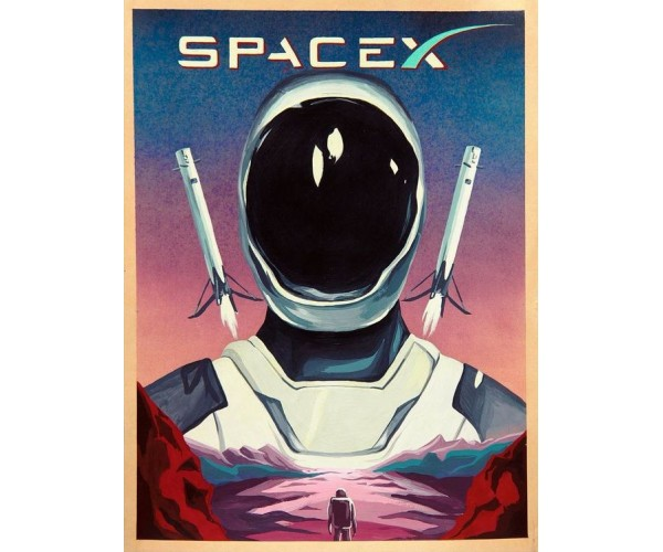 Стікер SpaceX 02