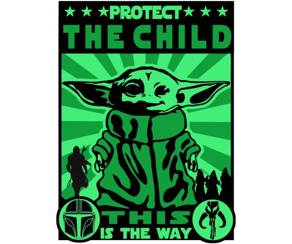 Постер Baby Yoda Малюк Йода