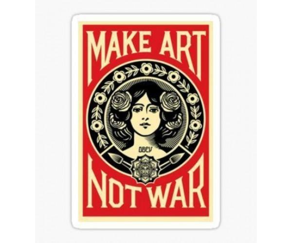 Стікер Make Art Not War