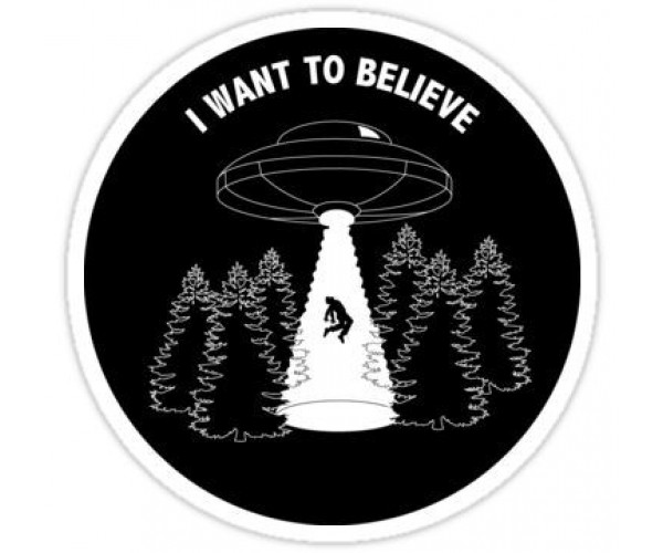 Стікер I Want to Believe