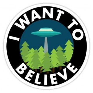 Стікер I Want to Believe 02