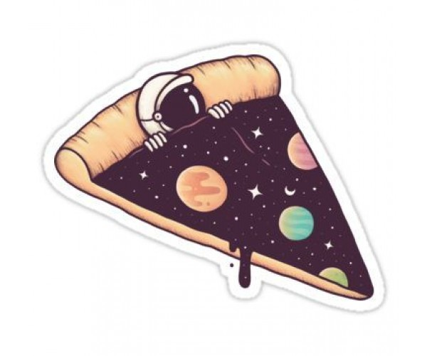 Стікер Космічна піца
