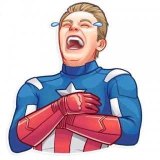 Стікер Капітан Америка 03