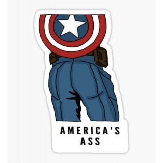 Стікер Капітан Америка 04