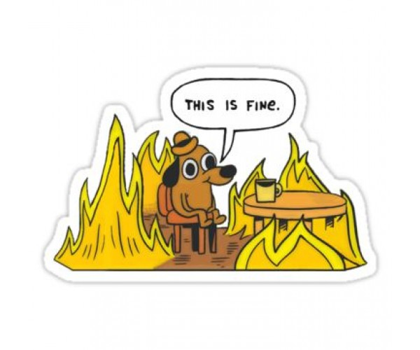 Стікер This is fine