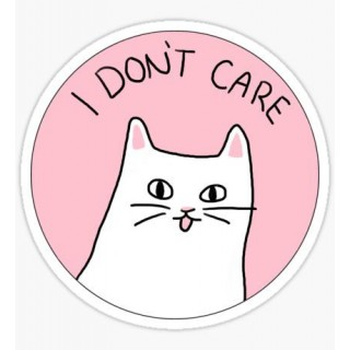 Стікер I Don't Care