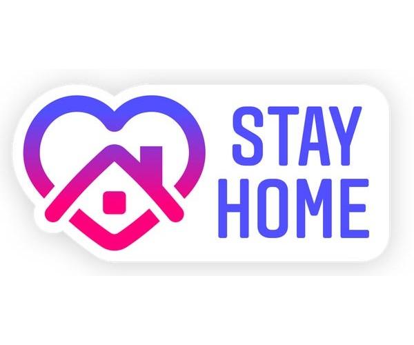 Стікер Stay Home