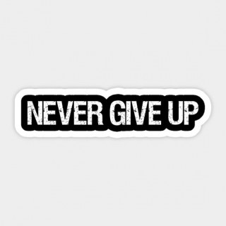 Стікер Never Give up