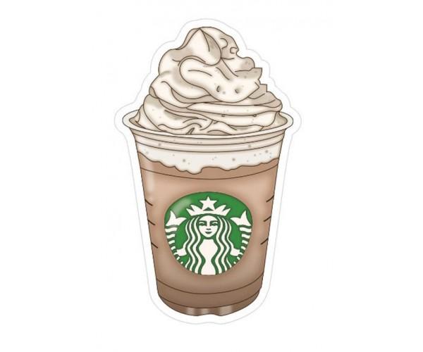 Стікер Starbucks Кава з вершками