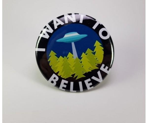 Значок I Want to Believe