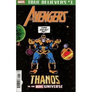 True Believers Avengers Thanos vs The Marvel Universe #1
