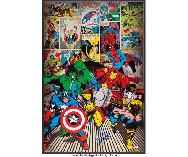 Постер герої Марвел
