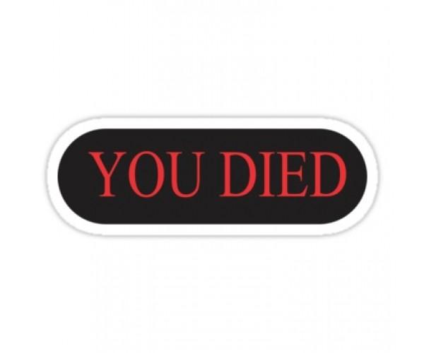 Стікер  YOU DIED